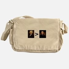 John greater than Tom Messenger Bag