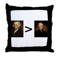 John greater than Tom Throw Pillow