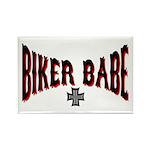 Biker Babe Rectangle Magnet (10 pack)