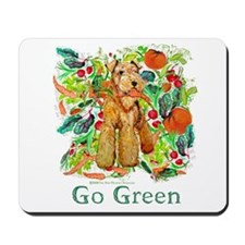 Airedale Terriers Go Green Mousepad