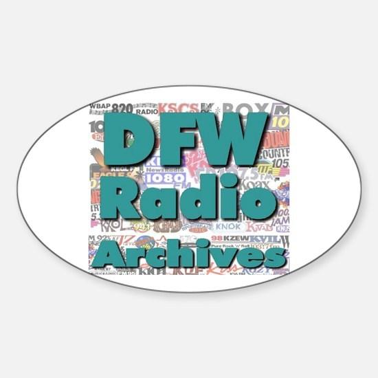 DFW Radio Archives - Square Logo Sticker (Oval)