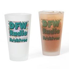 DFW Radio Archives - Square Logo Drinking Glass