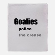 Goalies Police the Crease Throw Blanket