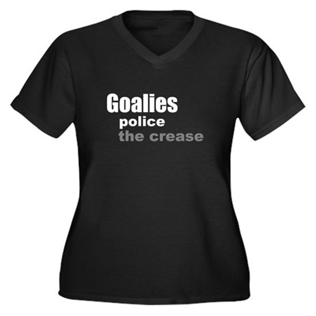 Goalies Police the Crease Women's Plus Size V-Neck