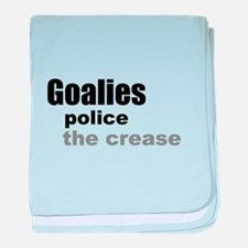 Goalies Police the Crease baby blanket