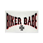 Biker Babe Rectangle Magnet