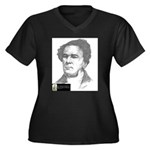 Lewis Tappan Women's Plus Size V-Neck Dark T-Shirt