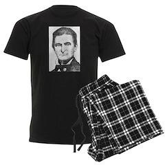 Brown Cropped 2 Men's Dark Pajamas