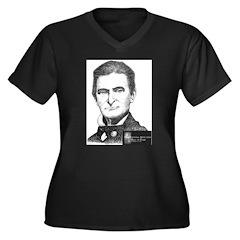 John Brown Women's Plus Size V-Neck Dark T-Shirt