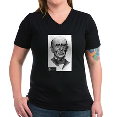 William Lloyd Garrison Women's V-Neck Dark T-Shirt
