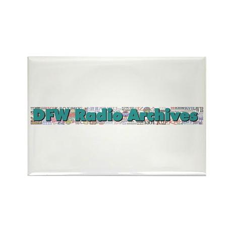 DFW Radio Archives - Bar Logo Rectangle Magnet (10