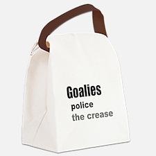 Goalies Police the Crease Canvas Lunch Bag