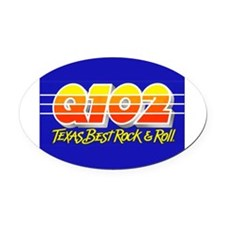 Q102 (1986) Oval Car Magnet