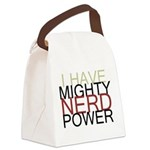 MIGHTY NERD POWER Canvas Lunch Bag