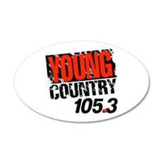 Young Country (1992) 20x12 Oval Wall Decal
