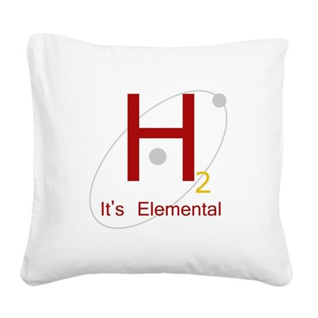 H2, It's Elemental Square Canvas Pillow
