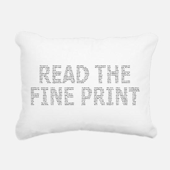 Read the Fine Print Rectangular Canvas Pillow