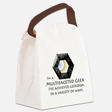Multifaceted Geek Canvas Lunch Bag
