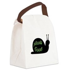 Slow Food Snail Canvas Lunch Bag