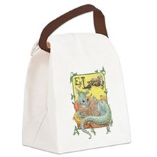 Reading Dragon Canvas Lunch Bag