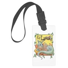 Reading Dragon Luggage Tag