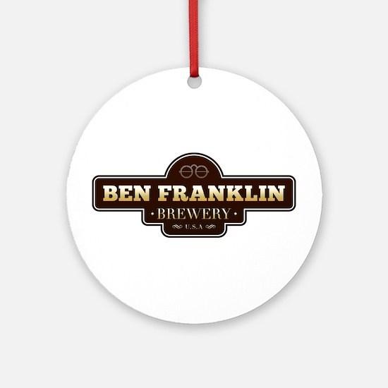 Ben Franklin Brewery Ornament (Round)
