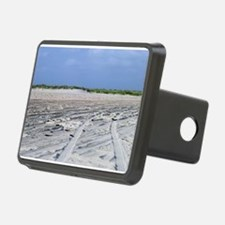 Tire Tracks On Beach Sand Hitch Cover