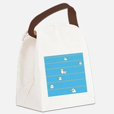 Swimming Contest Canvas Lunch Bag
