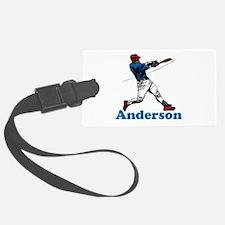 Personalized Baseball Luggage Tag