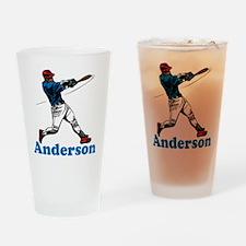 Personalized Baseball Drinking Glass
