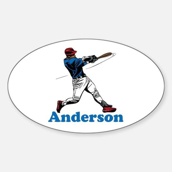 Personalized Baseball Sticker (Oval)