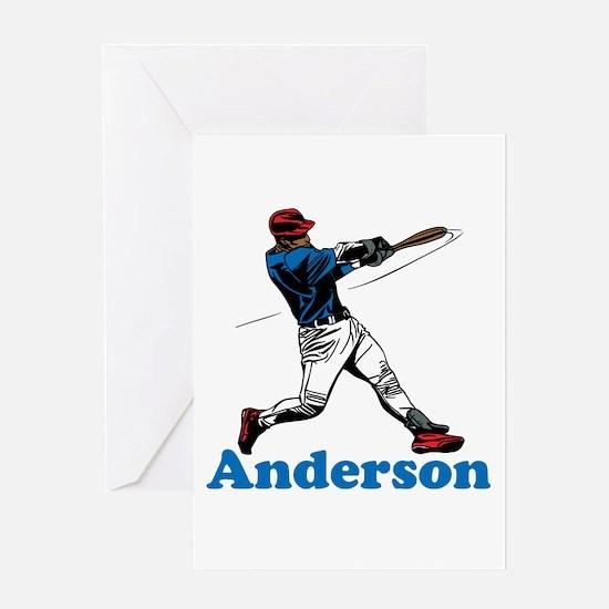 Personalized Baseball Greeting Card