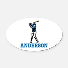 Personalized Baseball Oval Car Magnet