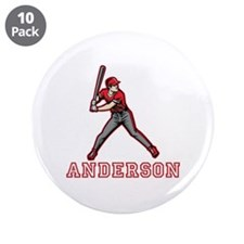 """Personalized Baseball 3.5"""" Button (10 pack)"""