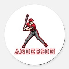Personalized Baseball Round Car Magnet