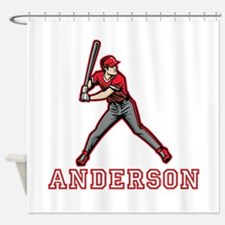 Personalized Baseball Shower Curtain