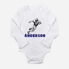 Personalized Football Long Sleeve Infant Bodysuit
