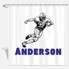 Personalized Football Shower Curtain