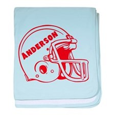 Personalized Football baby blanket