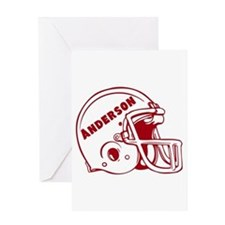 Personalized Football Greeting Card