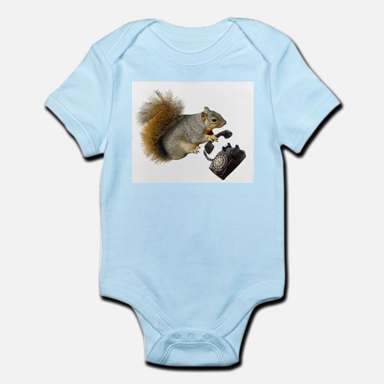 Squirrel Rotary Phone Infant Bodysuit