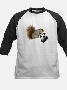 Squirrel Rotary Phone Kids Baseball Jersey