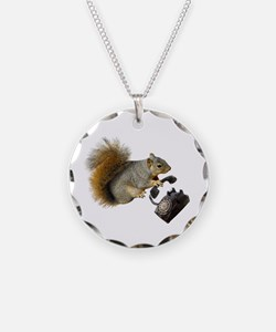 Squirrel Rotary Phone Necklace