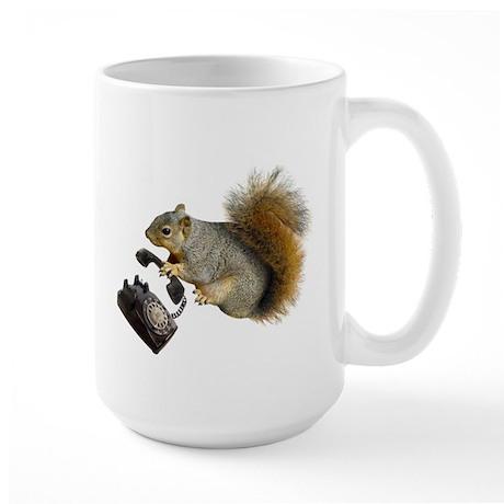 Squirrel Rotary Phone Large Mug