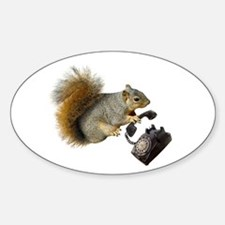 Squirrel Rotary Phone Decal