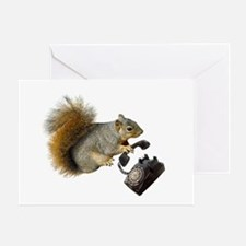 Squirrel Rotary Phone Greeting Card