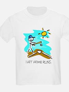 I Hit Home Runs Kids T-Shirt