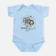 Peace + Love + Recycle Infant Bodysuit