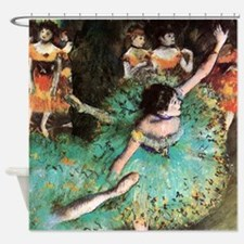 Edgar Degas The Green Dancer Shower Curtain