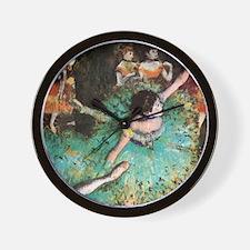 Edgar Degas The Green Dancer Wall Clock